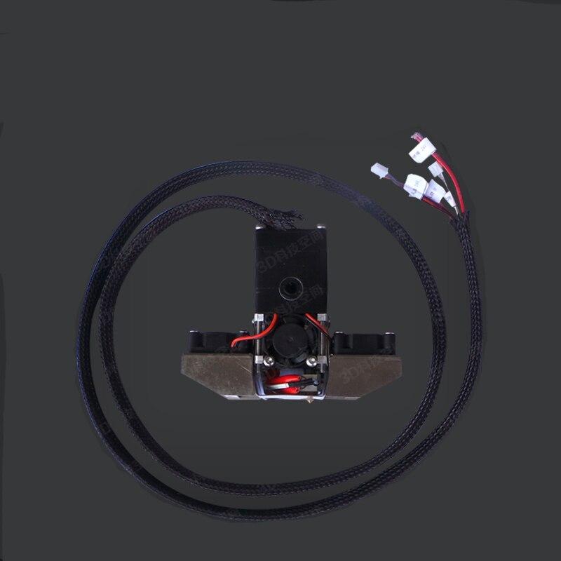 Impresora 3D mejorada kit de extrusión de extremo caliente completo cabezal de extrusión completo para filamento de Ultimaker2 + 1,75mm