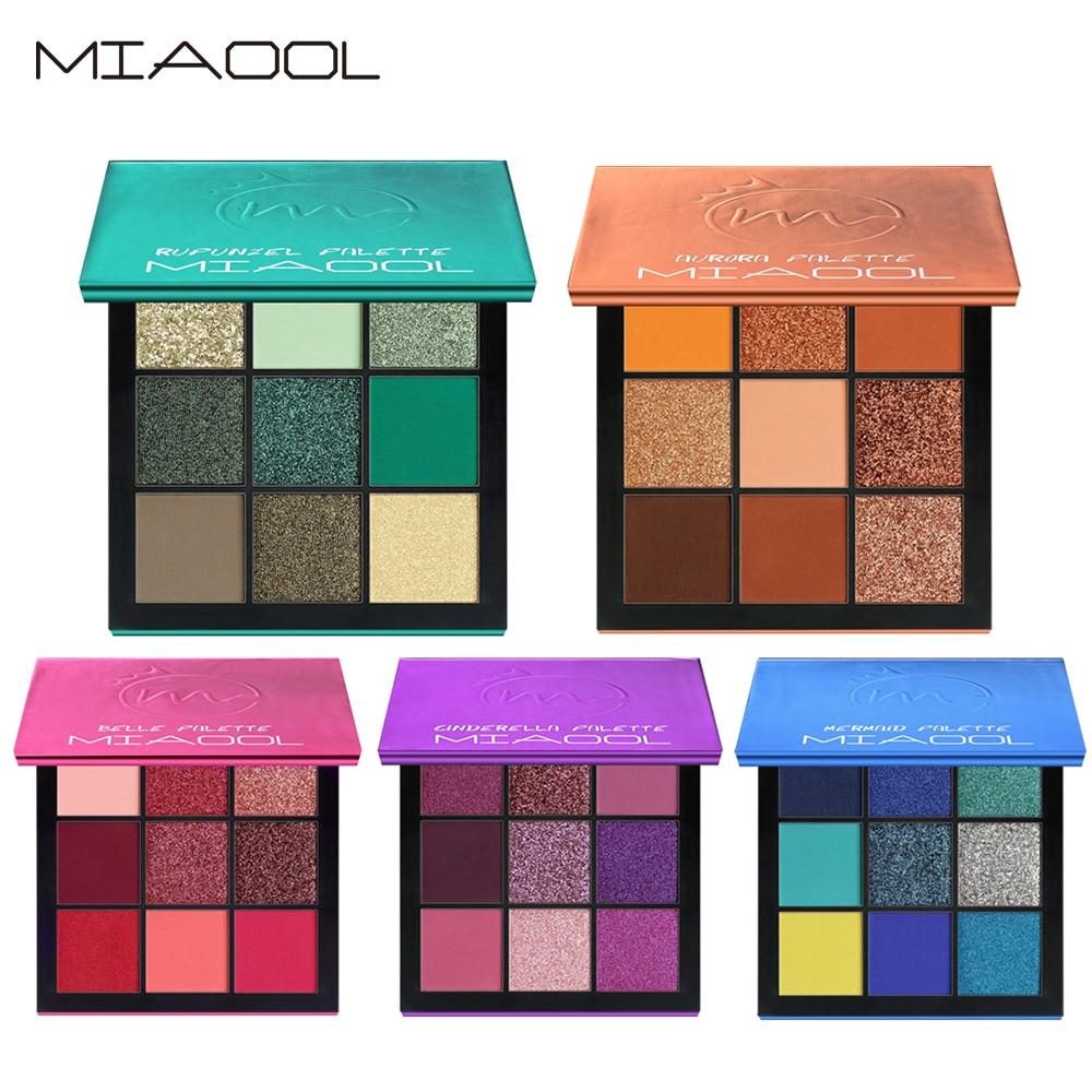 9 Colors/Set Eyeshadows Pearlescent Matte Shimmer Waterproof Sweat-proof Mixed Eye Shadow Palette Beauty Makeup Cosmetic TSLM2