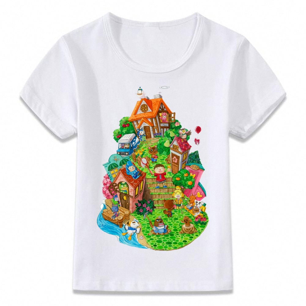 Ropa para niños camiseta Animal Crossing camiseta de juego para niños y niñas camisetas para niños pequeños camiseta oal123