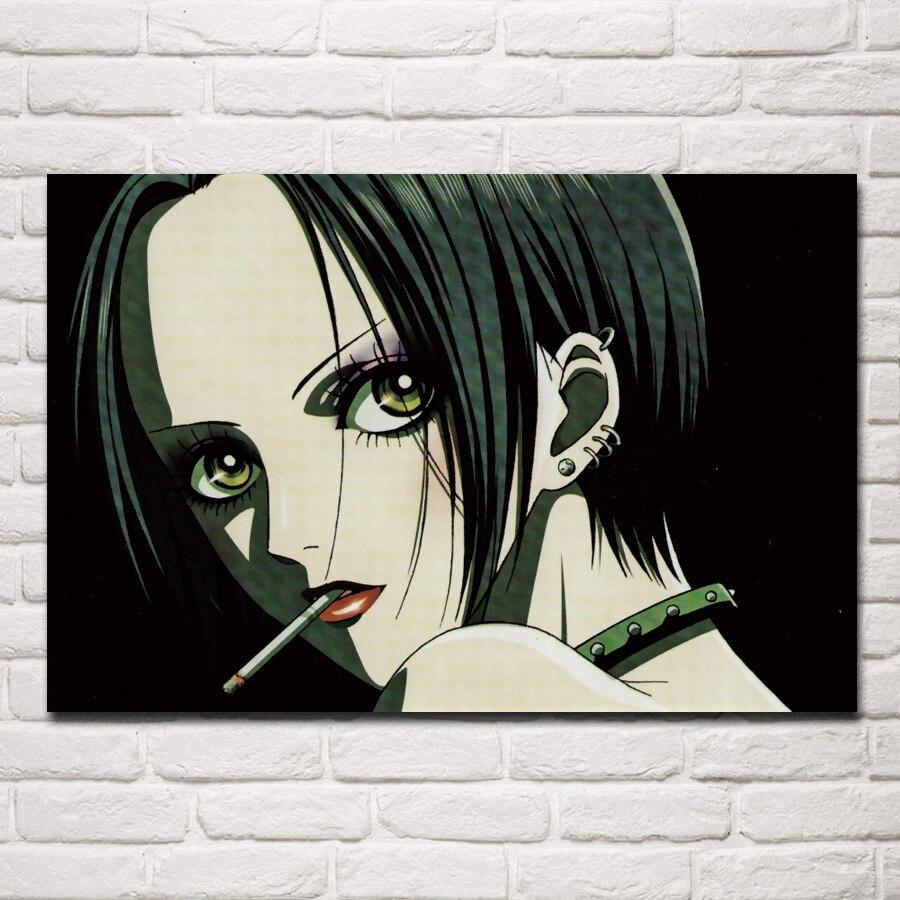 anime girl character nana osaki piercing cigarette print living room home wall art decor wood frame fabric poster EX400