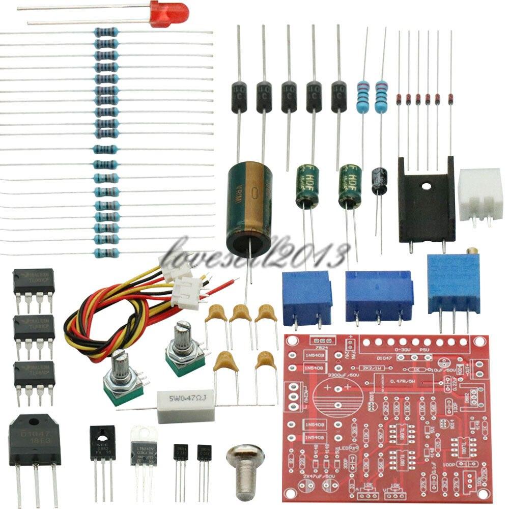 0-30V 2mA-3A continua ajustable DC regulada fuente de alimentación DIY Kit de cortocircuito de protección limitadora de corriente