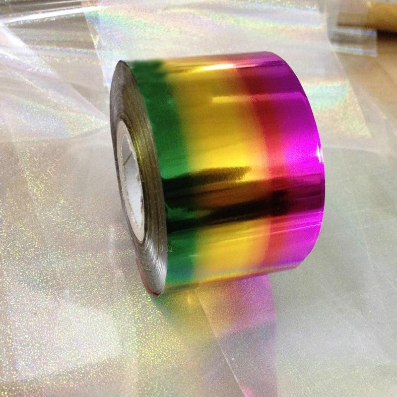 1 rolo sexy prego adesivos prego diy folha envoltório do prego adesivos decorativos cores arco-íris transferência folha