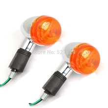2X Chrome Motorcycle Amber Turn Signals Indicator Bike Blinker Lamp Light For Kawasaki VULCAN VN 800 900 1500 1700 2000