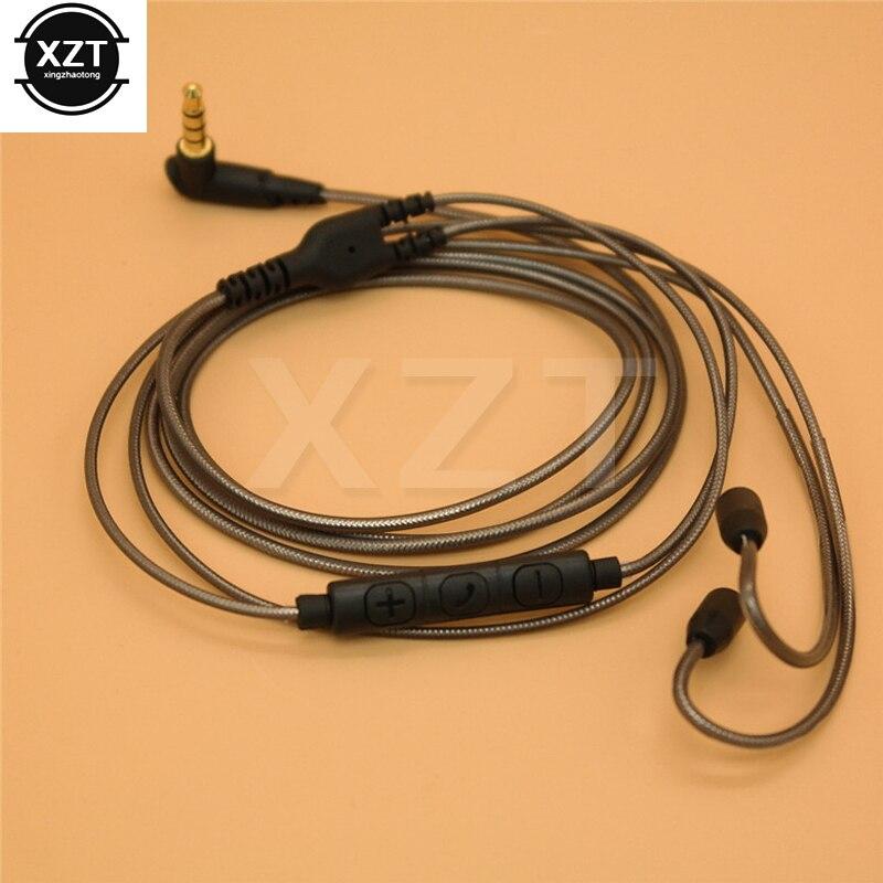 Kabel do shure SE215 SE425 SE535 SE846 UE900 kabel do wymiany portu kabel do słuchawek z mikrofonem do iphone Samsung