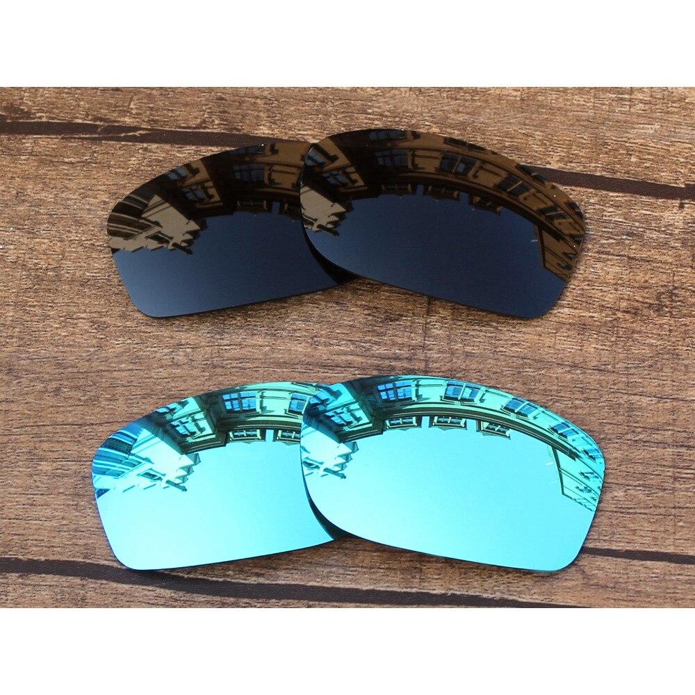 Vonxyz 2 Pares Stealth Black & Ice Espelho Polarizado Lentes de Substituição para o-Oakley Fives Squared Armação