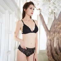 3 per pack new european and american lace front buckle bra set triangle cup cross beauty strap ladies underwear