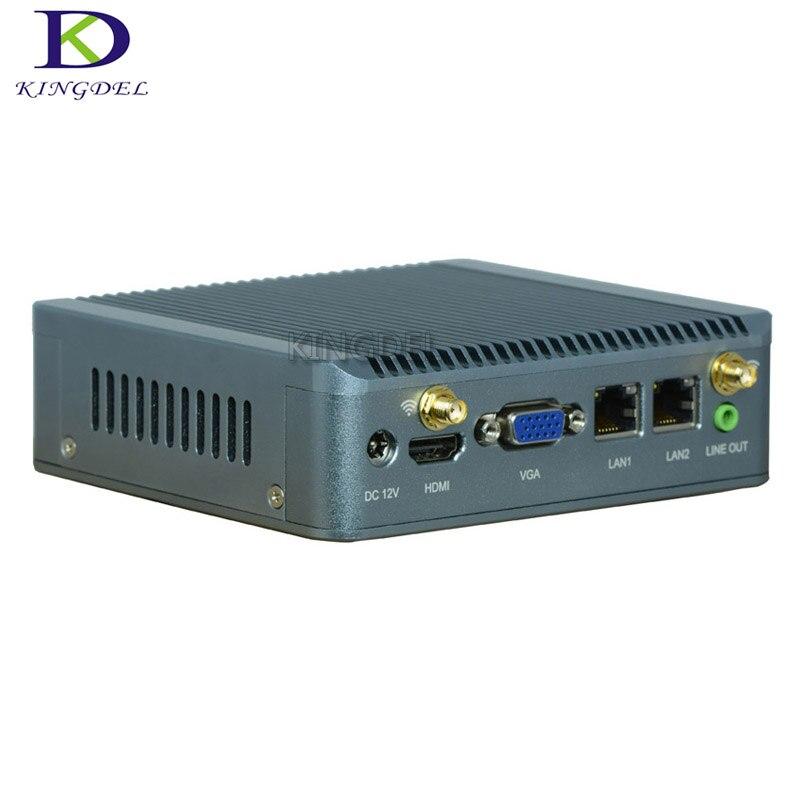 4GB RAM 32GB SSD نانو ITX رقيقة العميل جهاز كمبيوتر صغير رباعي النواة J1900 مع دعم ويك على LAN PXE الساعات 3G GPIO