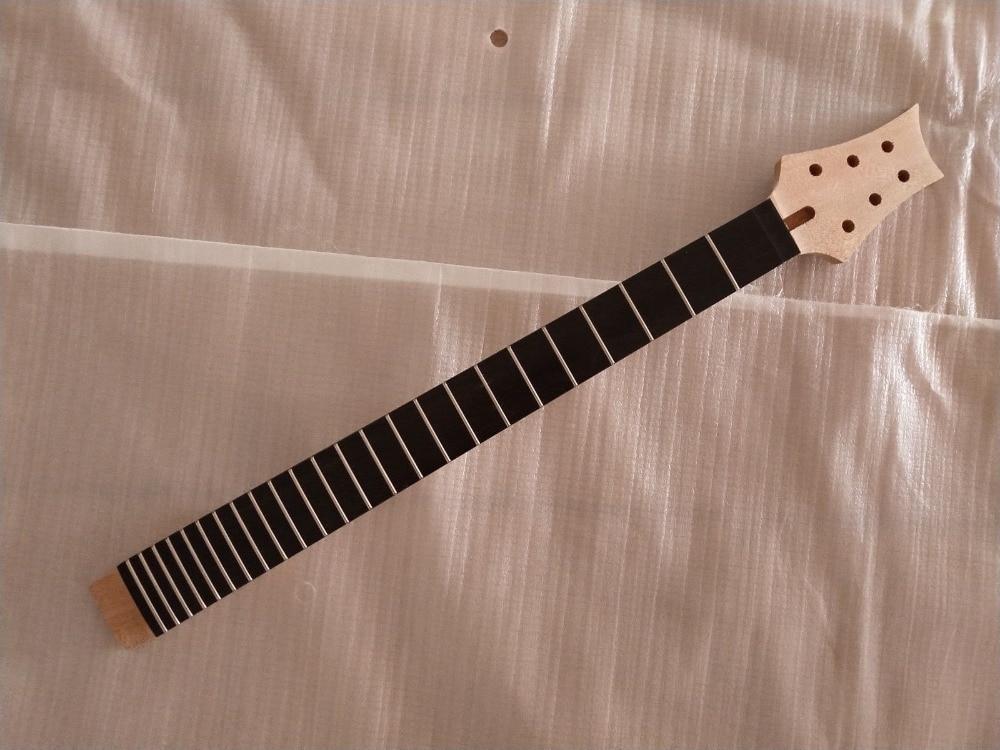 Diapasón de ébano con cuello de guitarra estilo PRS de 24 traste de caoba sin terminar 1 Uds