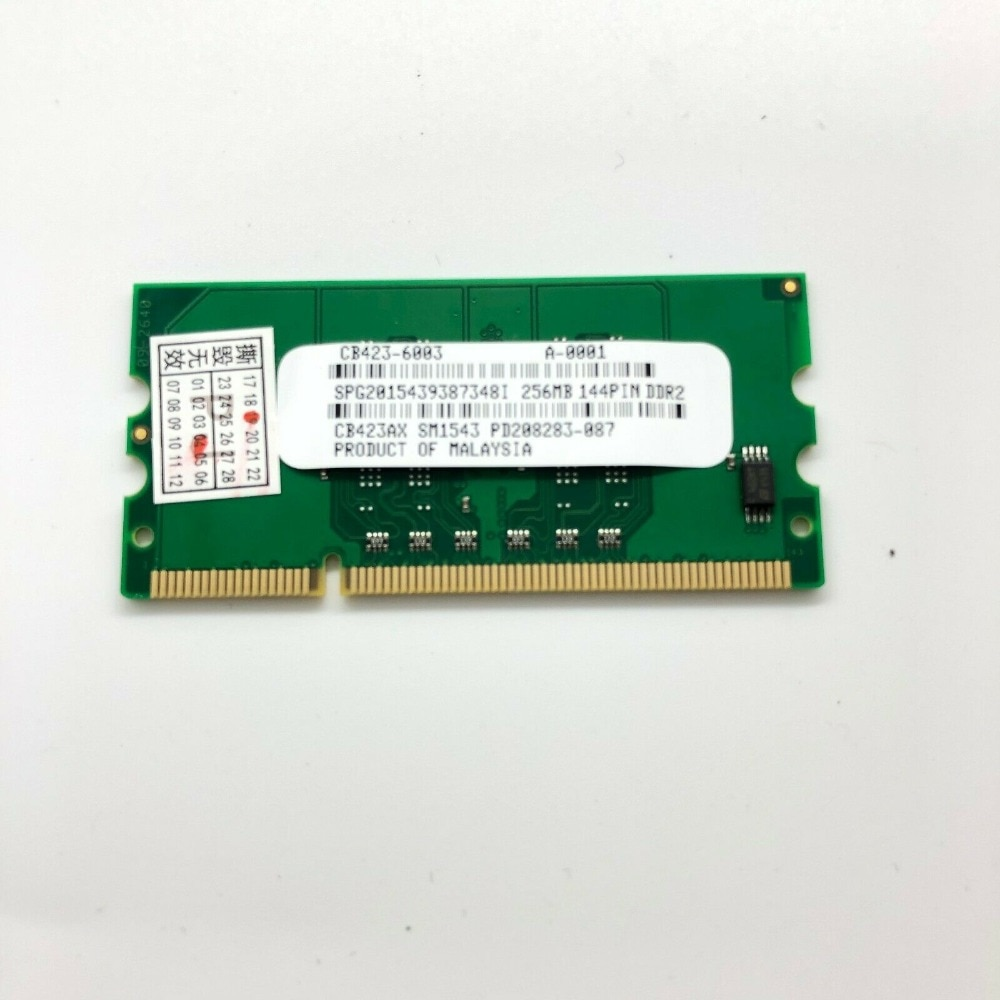 CB423A 256 M de memoria RAM 144PIN para HP Laserjet P2015 P2055 P3005 CP1510 CP2025 CM2320 impresora 5225 piezas de la impresora POJAN