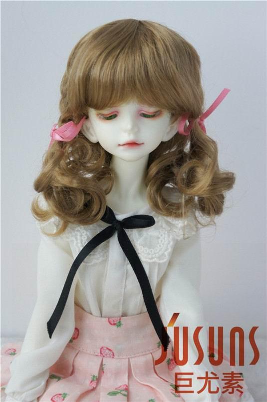 JD367 1/4 MSD lindo BJD muñeca mohair sintético pelucas Tamaño 7-8 pulgadas muñeca de moda pelucas en la mejor calidad