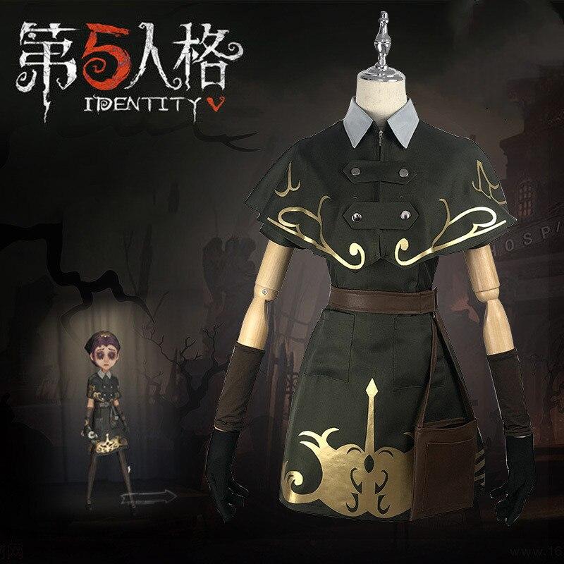 Jogo identidade v cosplay traje quinta personalidade doutor emily sobrinho cosplay halloween vestido anime mostrar traje frete grátis
