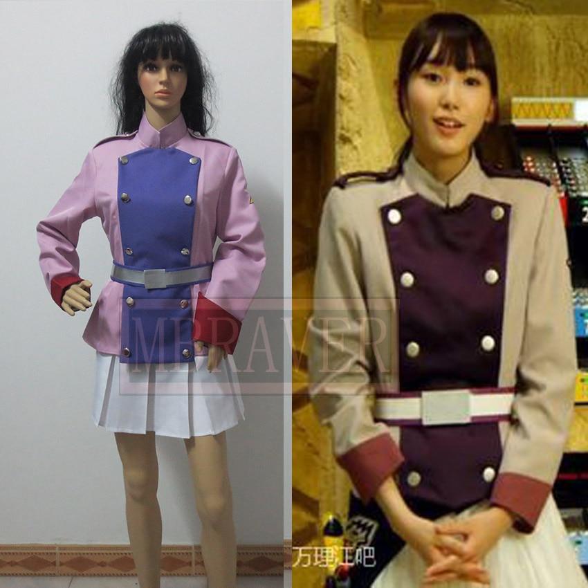 Super Sentai Zyuden Sentai Kyoryuger púrpura Yayoi Ulshade Cosplay traje de todas las tallas hecho a medida