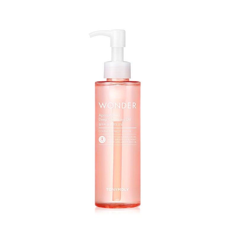 Wonder albaricoque aceite de limpieza profunda 190ml limpiador Facial hidratante maquillaje para la piel removedor Facial limpieza cosméticos Coreanos