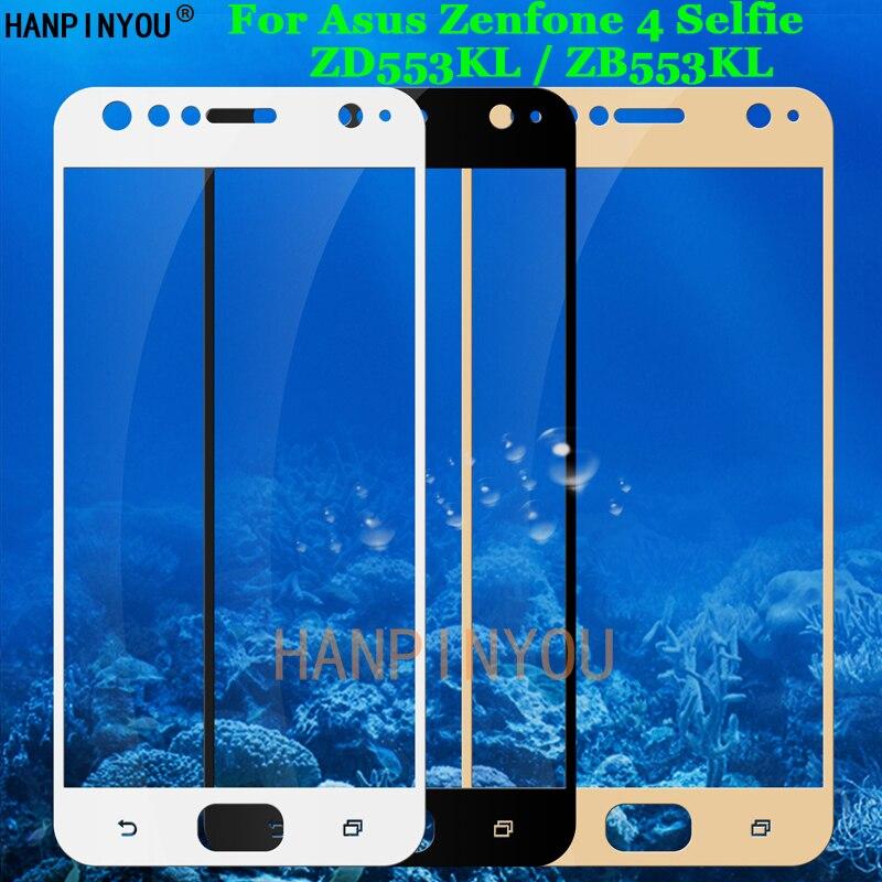 """Para Asus Zenfone 4 Selfie ZD553KL/ZB553KL 5,5 """"cobertura completa de vidrio templado 9 H 2.5D Protector de pantalla Premium película"""
