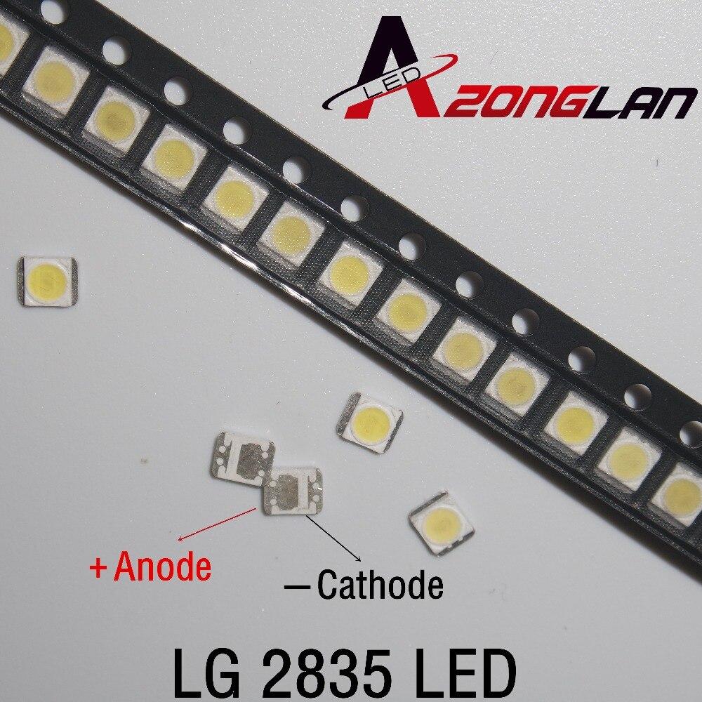 3528 100 3 pçs/lote 2835 V SMD LED Contas 100LM 1W LG Branco Frio Para TV/LCD Backlight