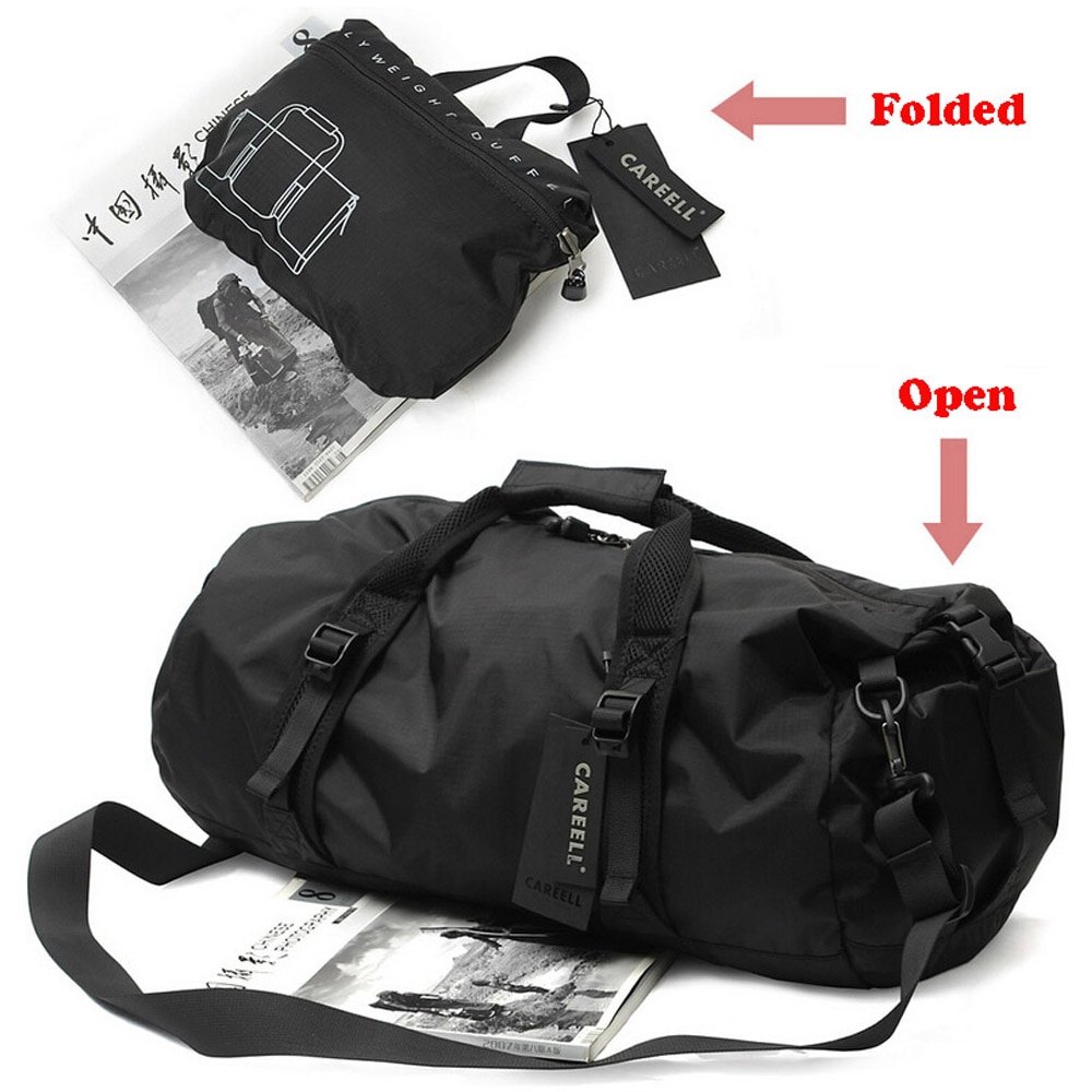 Men/Women Oxford Portable Nylon Cylindrical Gym Bag Single Shoulder Barrel Gym Totes Sports Bag Handbag