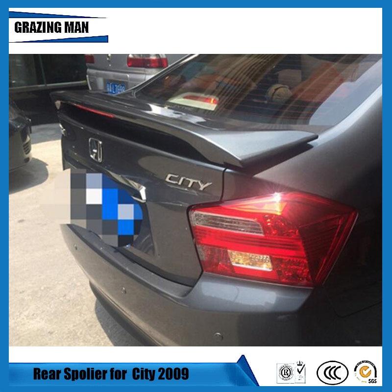 Pintado ABS con imprimación sin pintar sedán ciudad trasero labio coche Spoiler para Honda ciudad Spoiler 2009 2010 2011 2012 2013 2014 091011121314