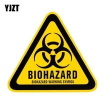 YJZT 12x10,7 см Треугольные алюминиевые предупреждающие символы в виде персонажей мультфильмов, предупреждающие символы в виде персонажей из мультфильма, светоотражающие наклейки в стиле ретро, C1-8124