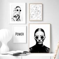 Toile imprimee affiche de Style nordique moderne pour filles   Affiche de mode  decoration de maison  peinture murale  image Simple pour salon  modulaire