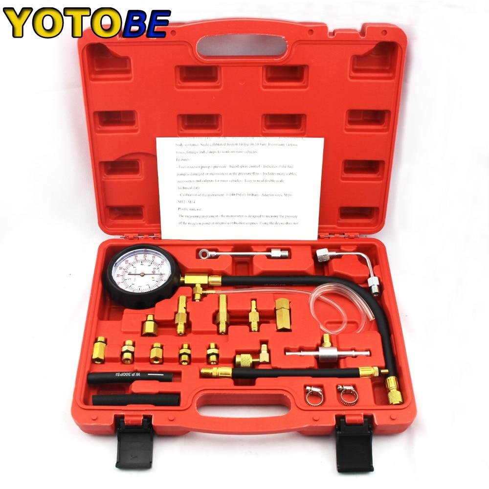 automotive tools of 22pcs fuel TU-114 Testing Gauge Fuel Pressure Gauge for Automotive Repair