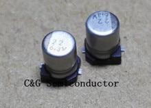 100 pièces 6.3 V 22 UF 4X5 MM SMD puce condensateur électrolytique En Aluminium