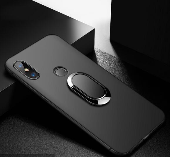 Para UMIDIGI A5 Pro Funda mate de silicona suave de dedos anillo magnético para teléfono UMIDIGI A5 Pro Funda trasera A5Pro