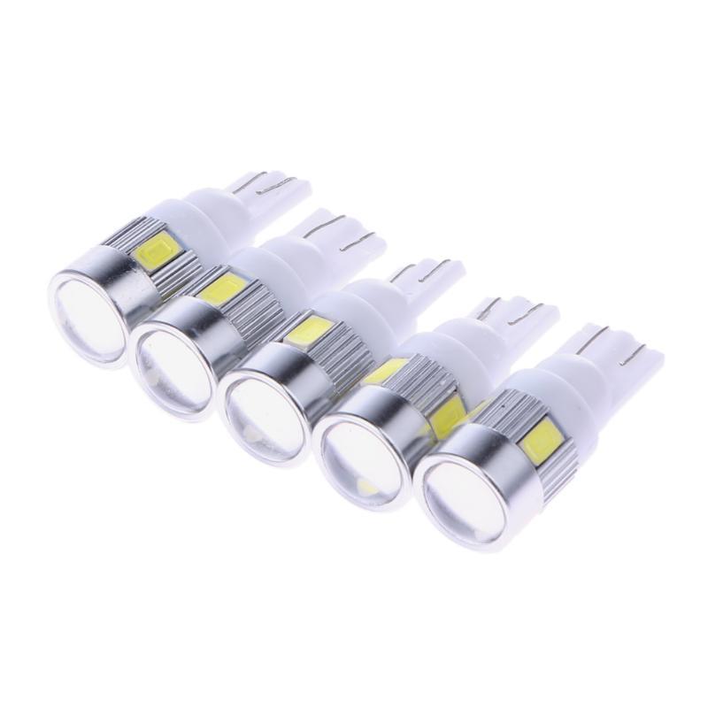 5 шт. белые Автомобильные светодиодные лампы высокой мощности 3 вт широкий свет T10 5630 6SMD Автомобильные светодиодные лампы аксессуары новые