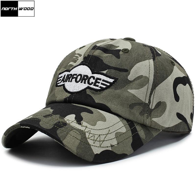 [NORTHWOOD] gorra de béisbol 2019 algodón para hombre, gorra de camuflaje del ejército de camuflaje de verano, gorra de béisbol, gorra de hombre