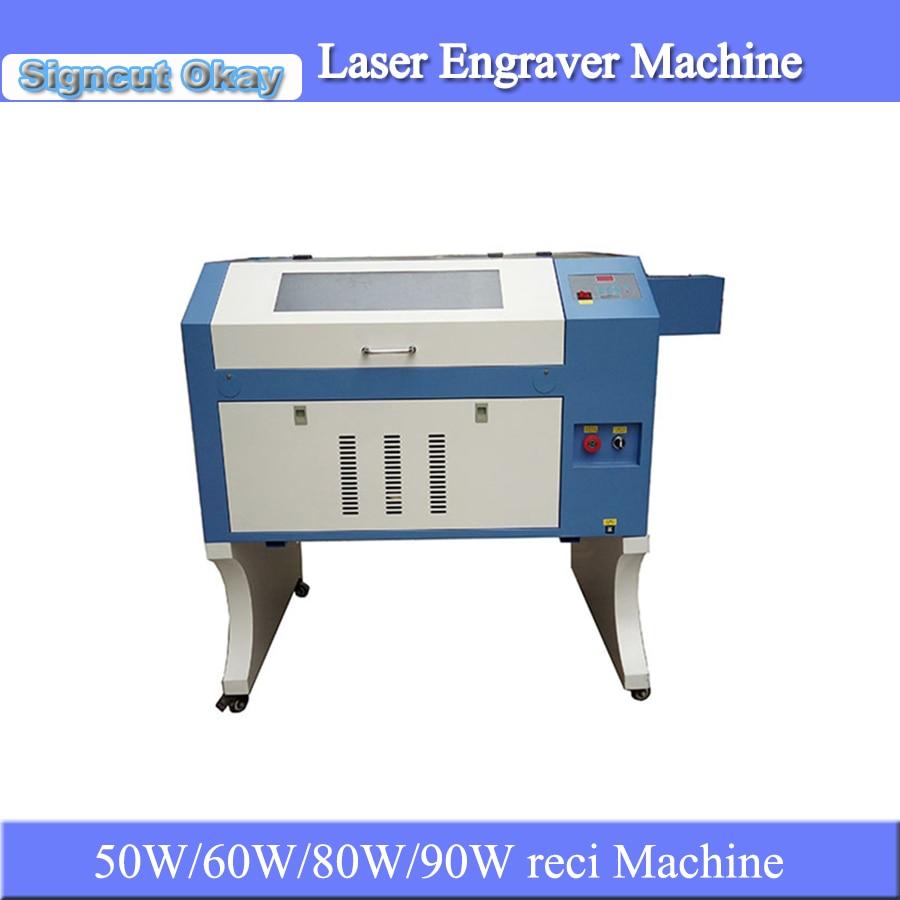 Jin Zhi Yin CNC CO2 máquina de grabado láser de goma máquina de grabado láser 4060 para sello de goma DIY grabado caving en venta