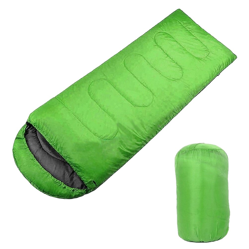 Bolsa de dormir verde impermeable para adulto