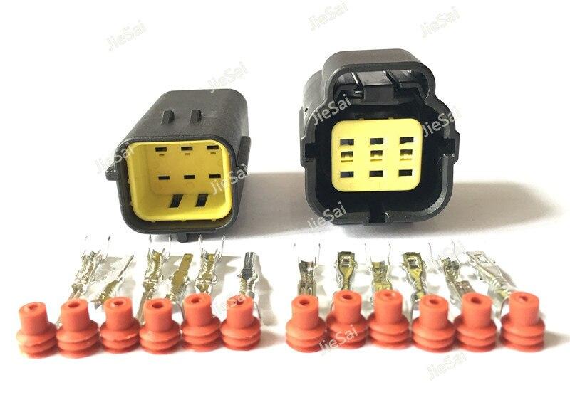 6 Pin 174262-2 174264-2/174265-7 conector de sensor de pedal de acelerador automotriz impermeable hembra macho para Hyundai Denso