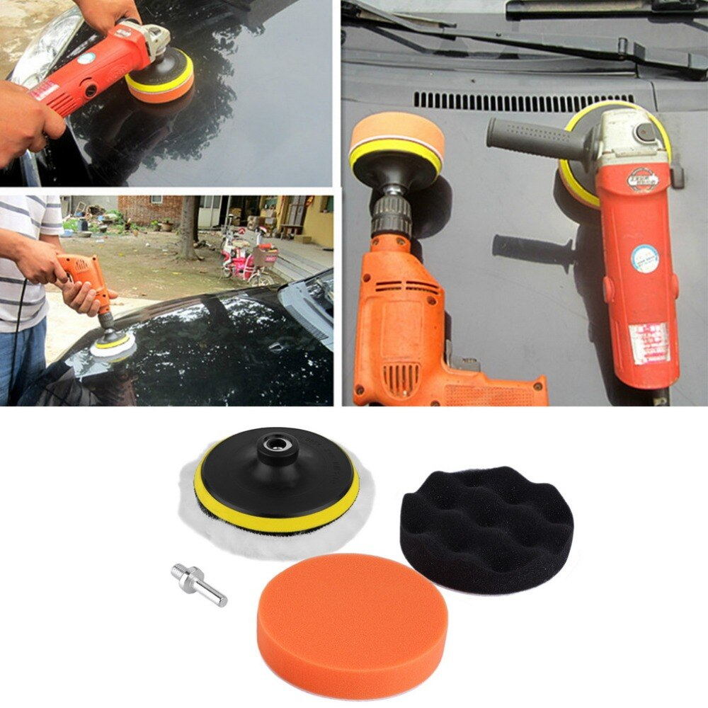 SDFC 5pcs Popular New 5 inch Polishing Sponge Buffer Pad M10 Drill Adapter Kit For Car Auto