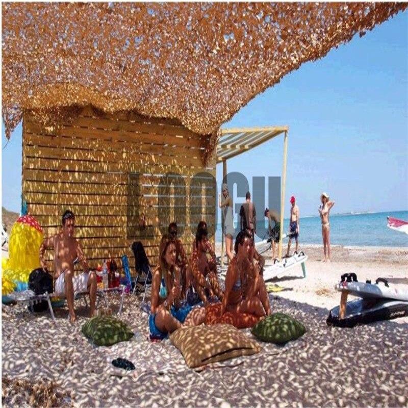 Red de camuflaje militar de 8M * 10M, sombrilla de playa, pantalla de malla, refugio solar, toldo de red de camuflaje, tienda de campaña, sombrilla para fiesta en la playa