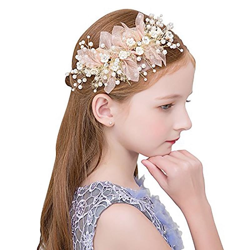 Corona de flores para niñas, diadema ajustable hecha a mano corona Floral Flor del pelo