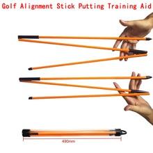 "New 2Pcs 48"" Golf Alignment Stick Putting Training Aid To Improve Golf Skills Ball Position Scores Swing Plane Orange Fiberglass"