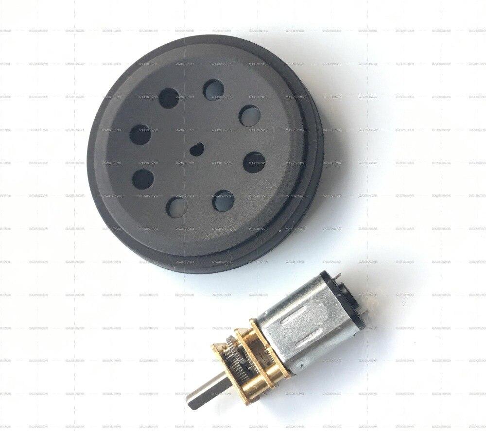 4 Sets DC 3V ~ 6v Motor de engranaje 12GBN20 con rueda de neumático ruedas de juguete para Robot inteligente coche Robot máquina coche de juguete Arduino DIY