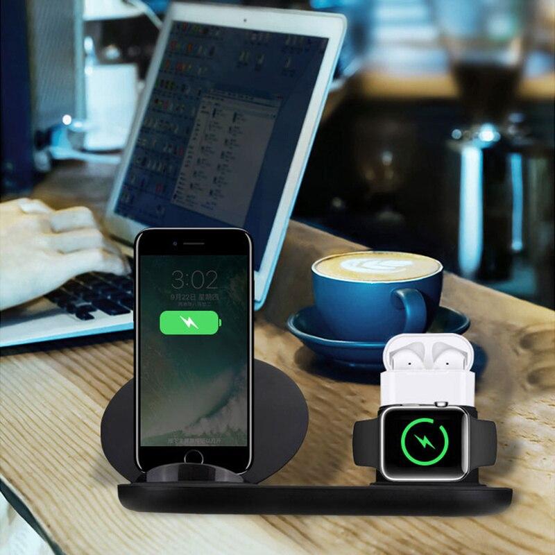 Drahtlose Ladegerät, 3 in 1 Drahtlose Ladestation für Apple Uhr, ladestation für Airpods iphone Schnelle Drahtlose Ladegerät Dock