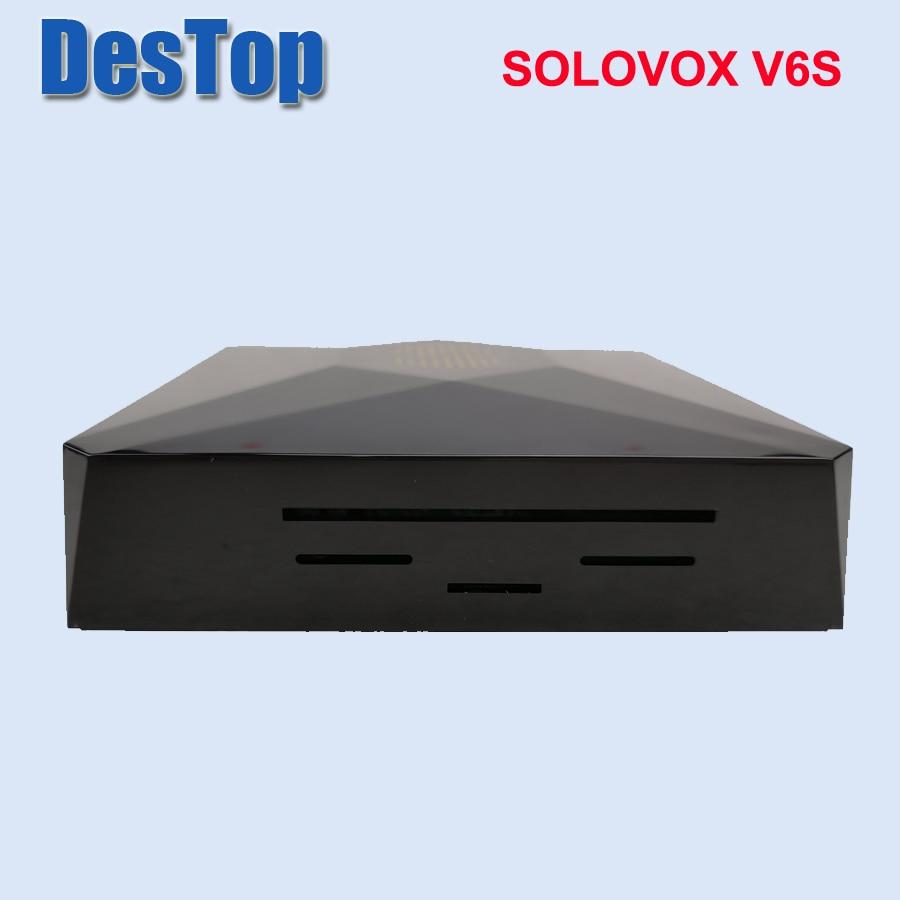 Genuino SOLOVOX V6S 1PC envío gratis Mini V6S satélite recibidor compatible con 2 USB WEB TV compartir tarjeta Youporn wifi usb opción