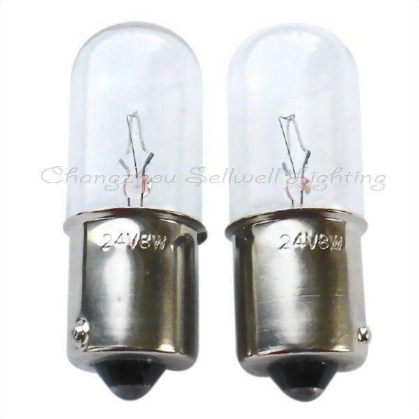 Sellwell iluminação miniatura lâmpada ba15s t16x46 24v 8w a017