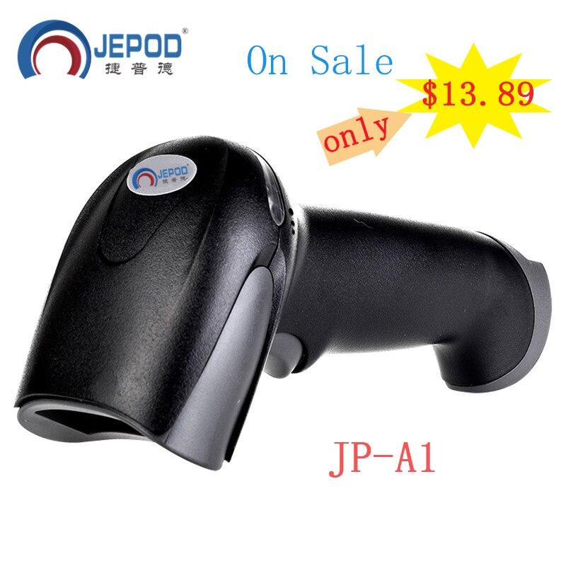 ¡En venta! Escáner de código de barras JP-A1 supermercado lector código barras XP-58IIH impresora térmica de recibos POS de 58mm