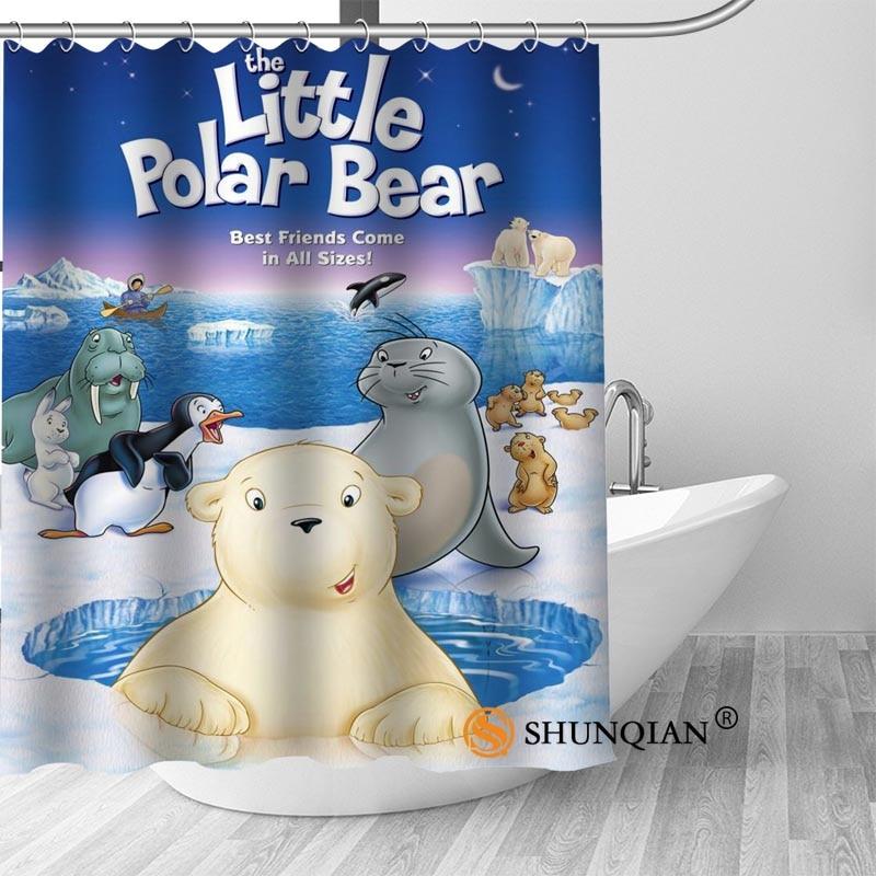 High Quality Custom Bear New Arrival Polyester Fabric Printing Shower Curtain Bathroom Waterproof With Hook Bath Curtain Gift
