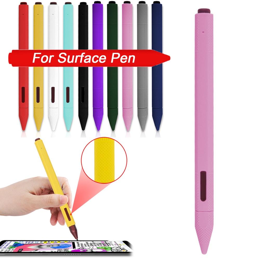 1 Uds. Funda de silicona suave para lápiz de superficie, funda, soporte para tableta, bolígrafo táctil, bolsa protectora completa para lápiz táctil de superficie
