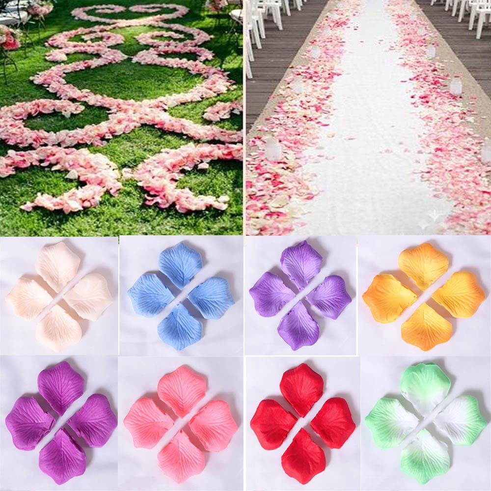 De Erosebridal 5,5 CM * 5,5 CM pétalos de rosa para boda fiesta 1000 unids/pack 11 colores