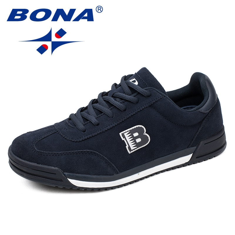 BONA nowy styl klasyczny mężczyźni obuwie zasznurować zamszowe skórzane buty męskie wygodne płaskie buty męskie buty miękkie światło darmowa wysyłka
