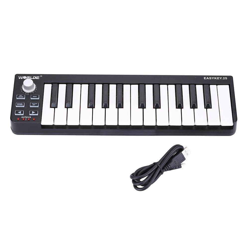 Easykey.25 Tragbare Tastatur Mini 25-Key USB MIDI Controller