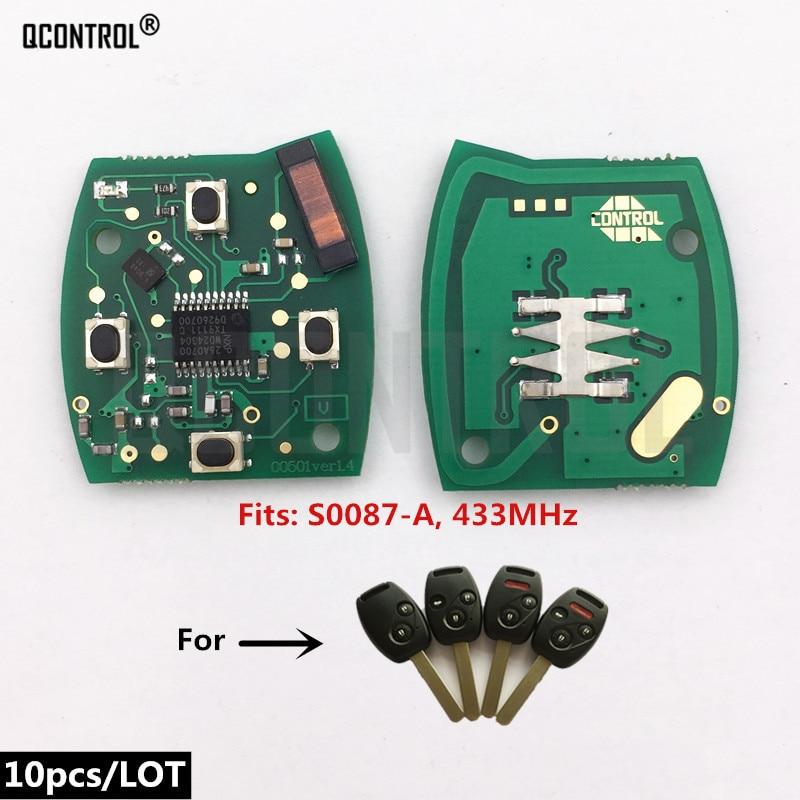 Qcontrol carro remoto chave fob placa de circuito para honda S0087-A accord elemento piloto civic CR-V HR-V ajuste insight cidade jazz odyssey