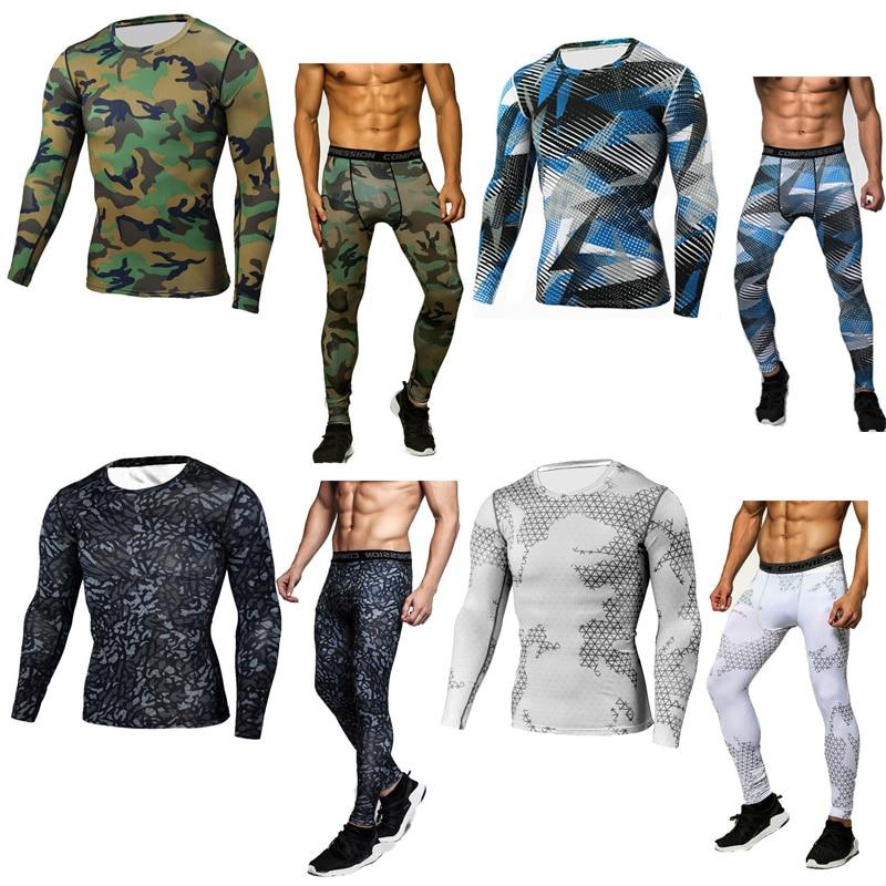 Camisa esportiva mma rash guard roupas de corrida dos homens marca roupas de compressão leggings de manga comprida malhas união terno mma camisa