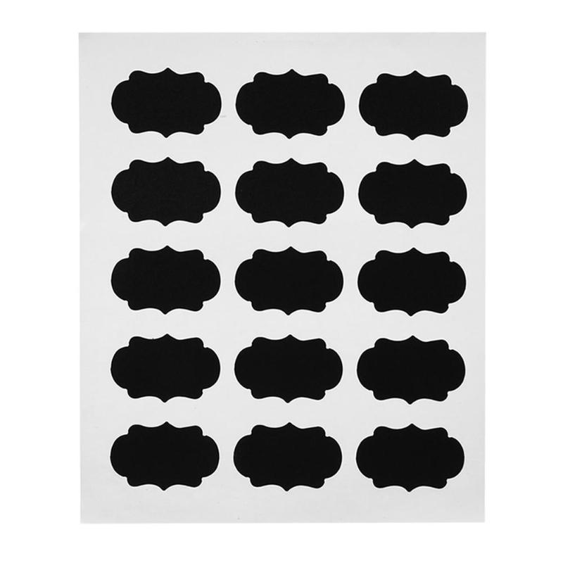 15 шт. наклейка на доску ремесло кухонный Органайзер наклейки в виде доски для написания мелом многофункциональные презентационные доски но...