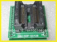 Livraison gratuite 2 PCS/LOT adaptateur SOP SOP16 SOP20 SOP24 SOP28 à DIP28 USB universel programmeur IC Socket TL866CS/TL866A/EZP2010