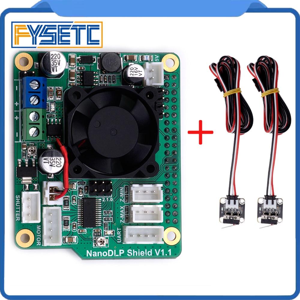 NanoDLP درع V1.1 التوسع مجلس مع DRV8825 التحكم MOS ل التوت بي 3B مع 2 قطعة CR-10 Endstops الحد التبديل